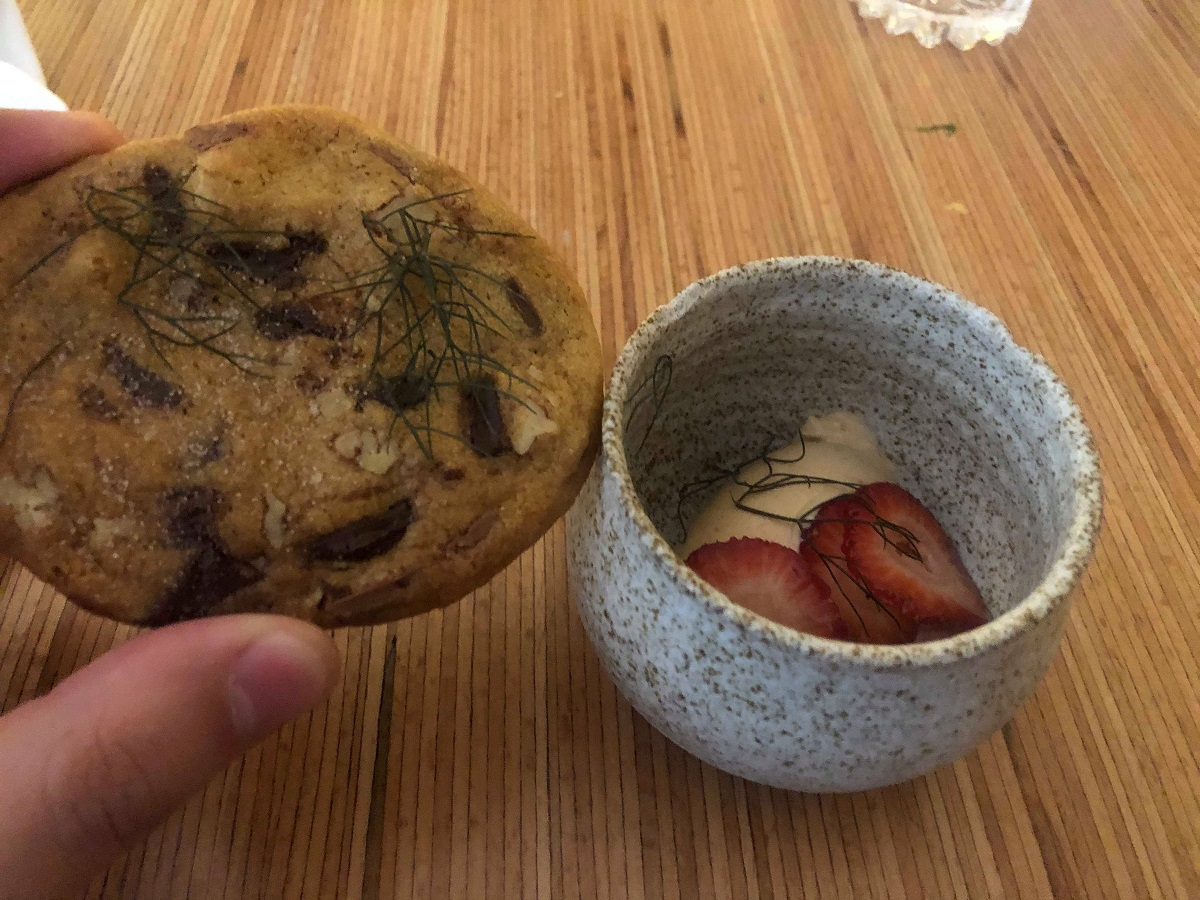 cookie and strawberry
