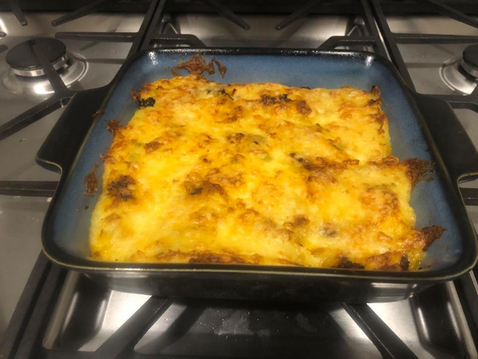 Hello Fresh Beef & Spinach Cottage Pie COOKED MEAL IN PAN