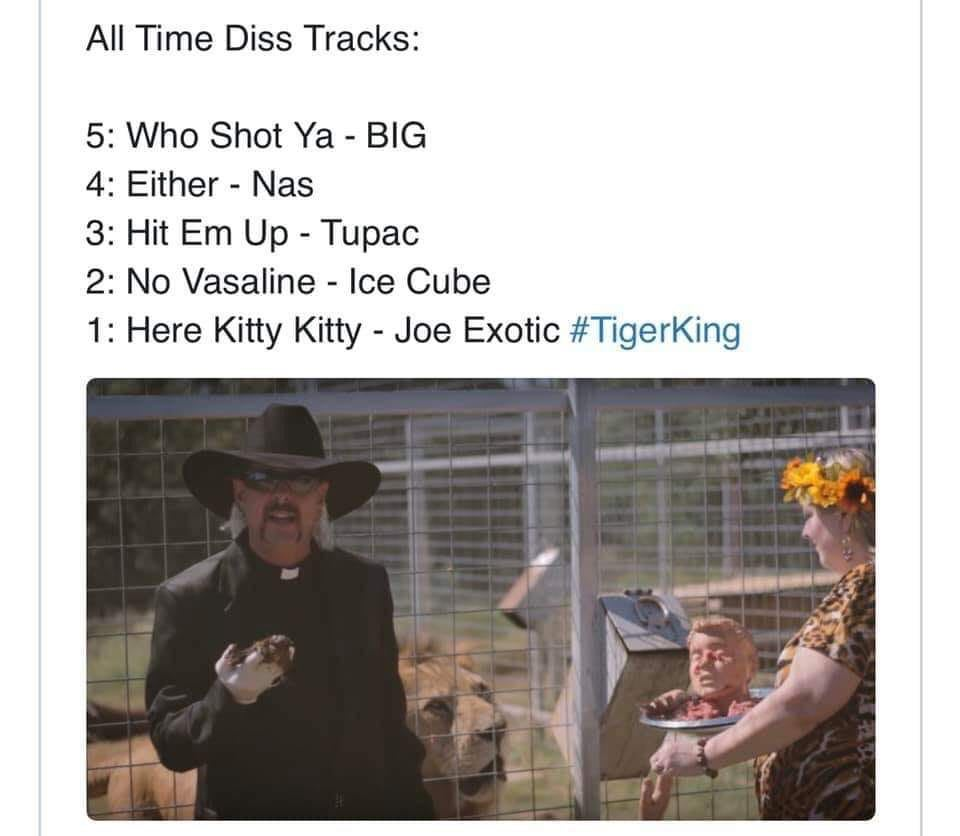 TIGER KING PREIST OUTFIT SONGS