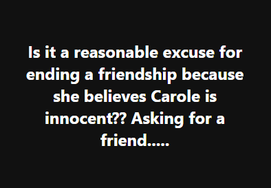 carole baskin is not innocent ok