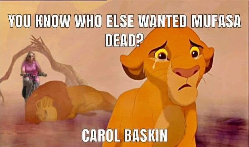 carole baskin killed mufasa