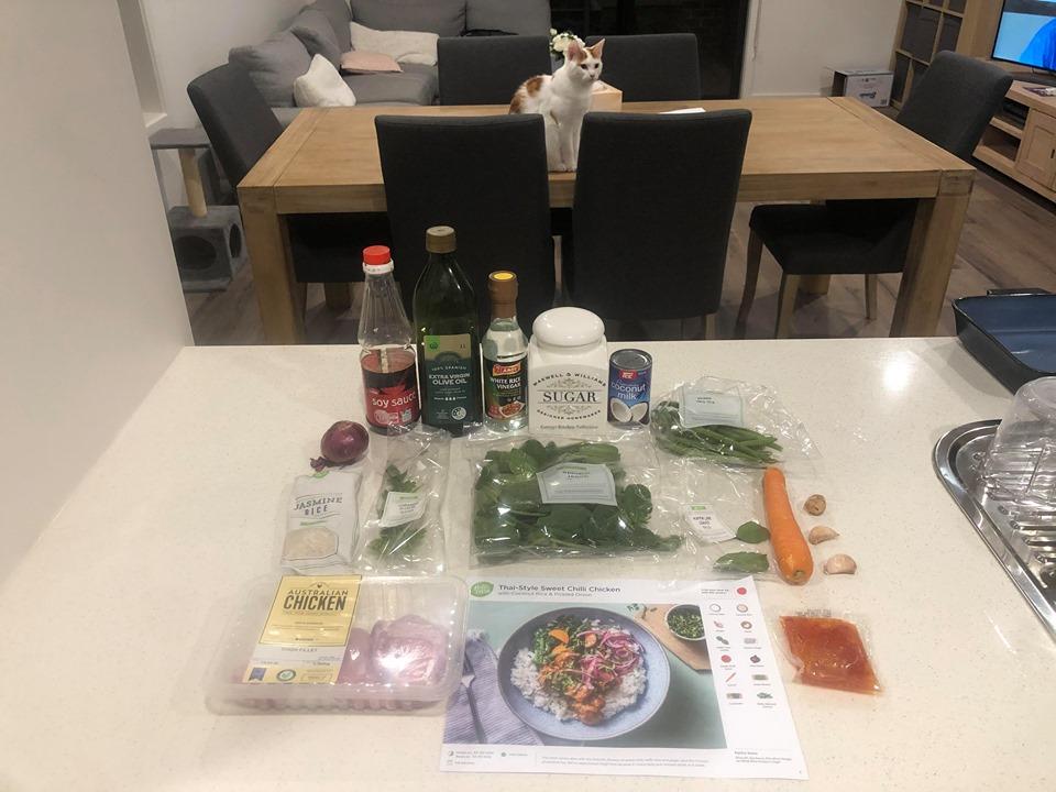 hello Fresh thai style sweet chilli chicken ingredients