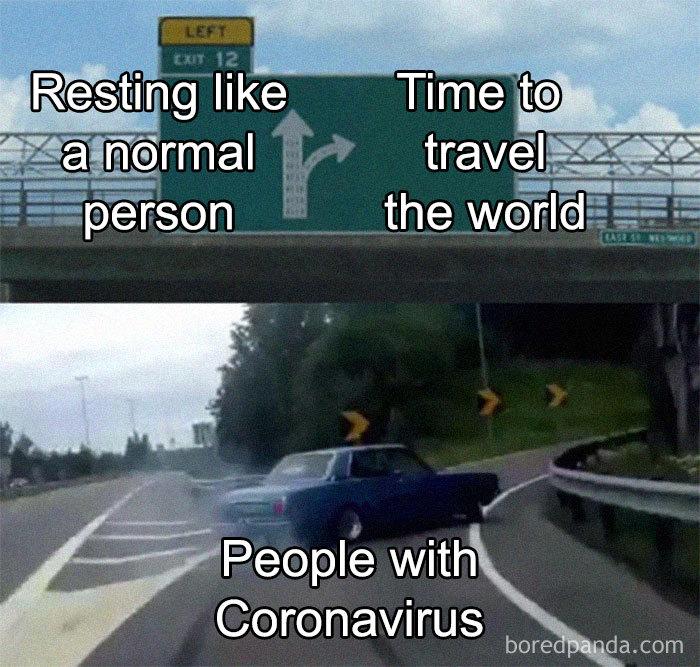 people woth coronavirus meme