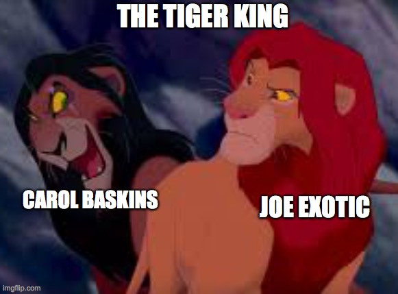 tiger king the lion king meme