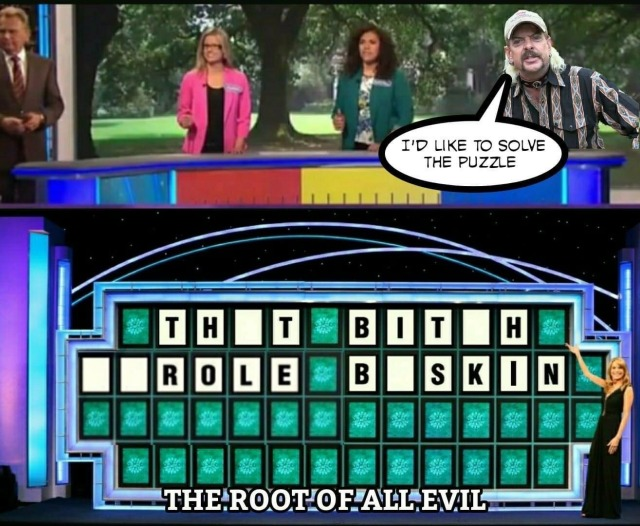 wheel of fortune that bitch carole baskin