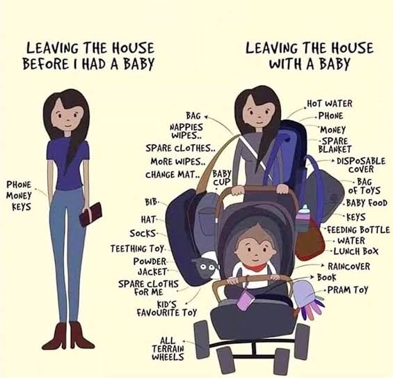 leaving the house with a baby pregnancy meme