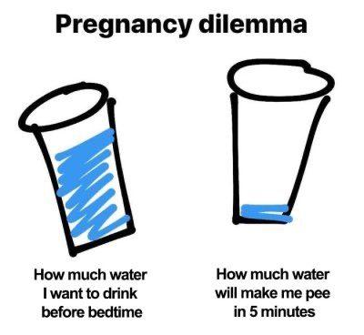 pregnancy drinking water meme