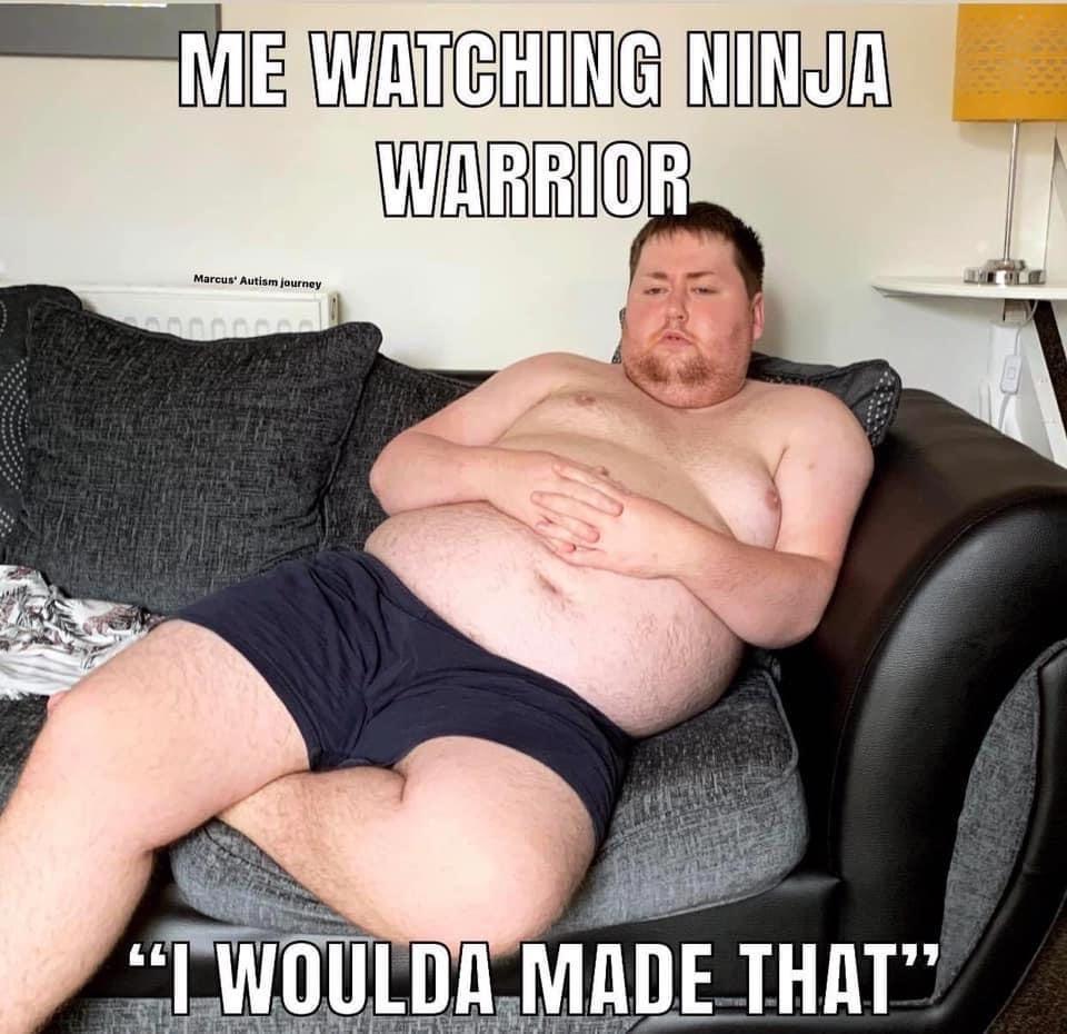 ninja warrior pregnancy meme