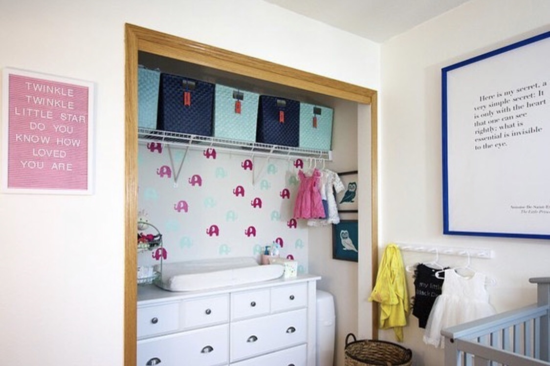 baby drawers in wardrobe
