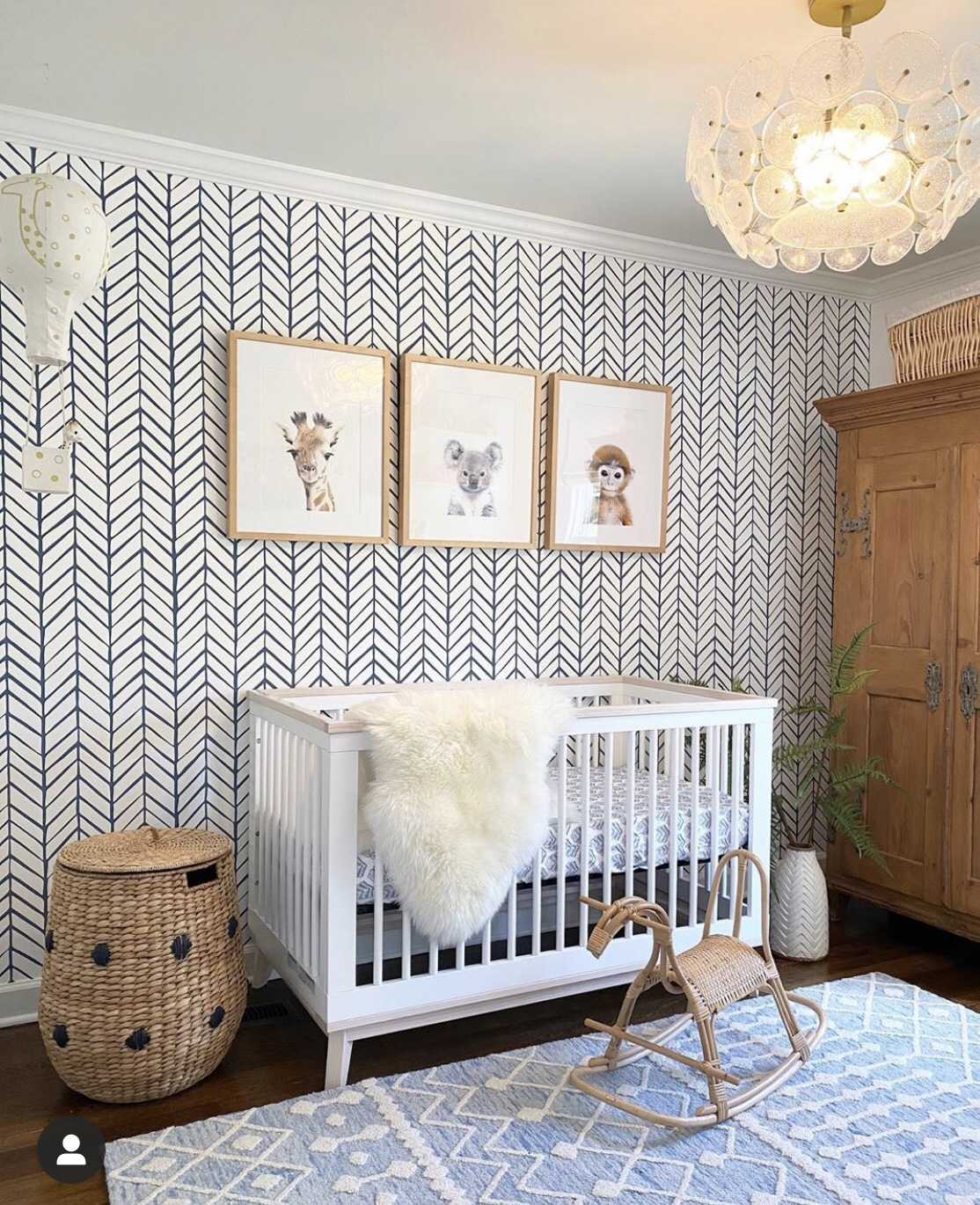Nursery, with wall paper