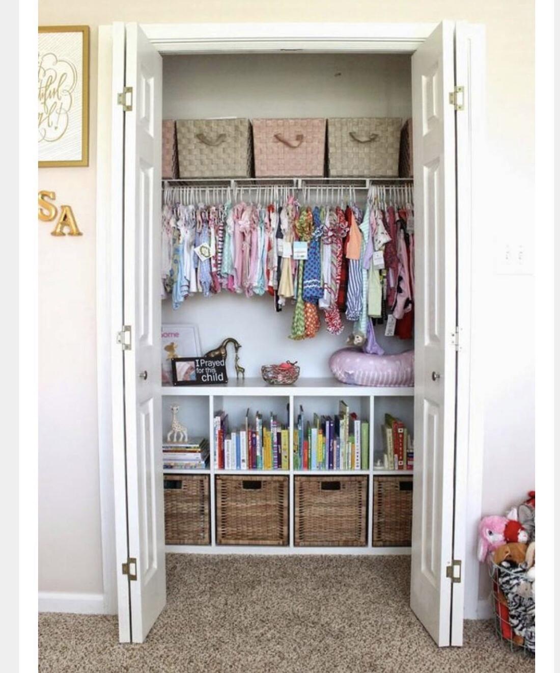 nursery wardrobe shelving-nursery organisation