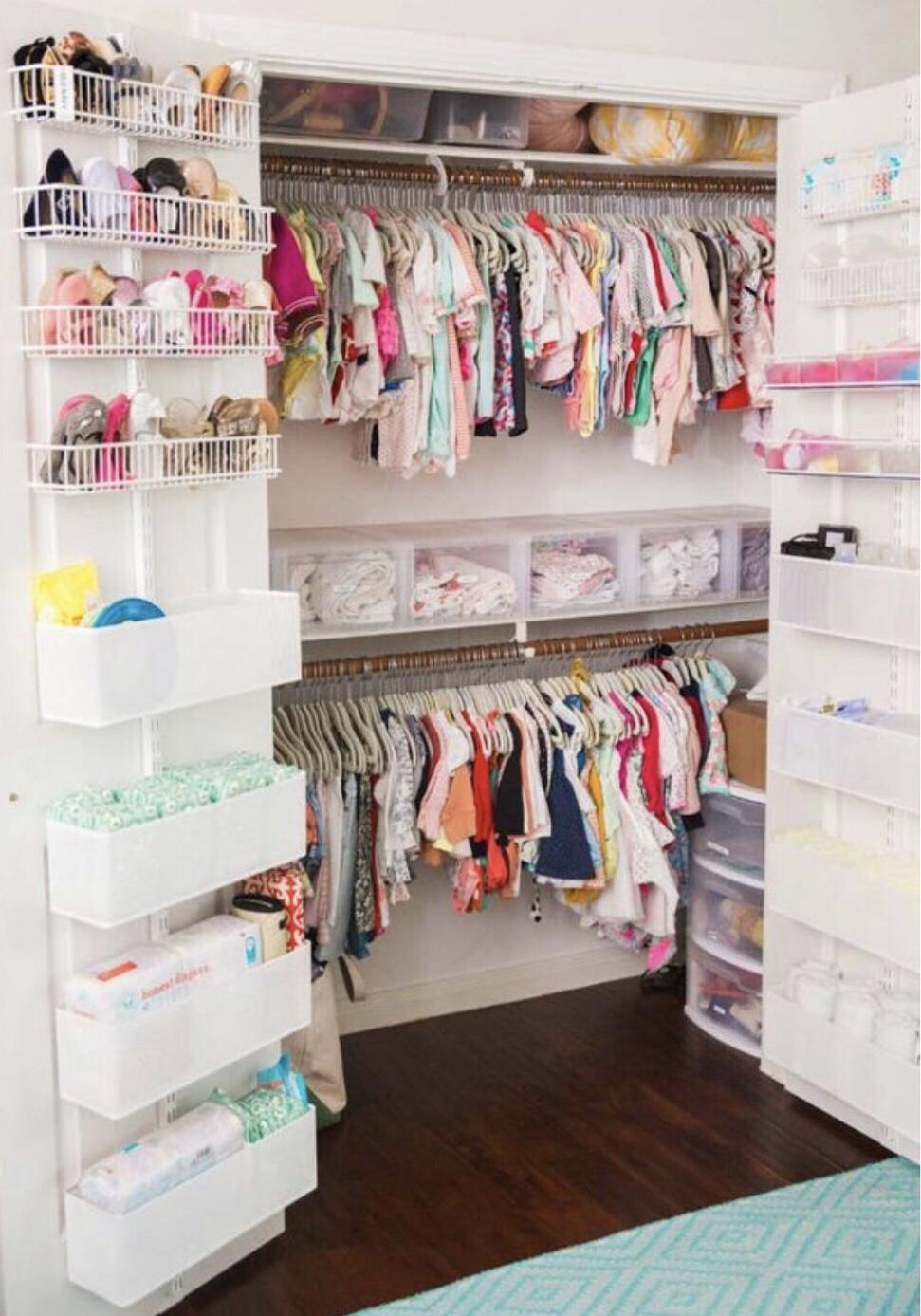 storage behind doors-nursery organisation nursery organization