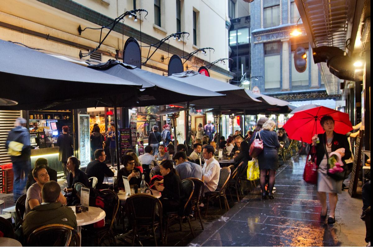 Degraves Street Melbourne Laneway 2014
