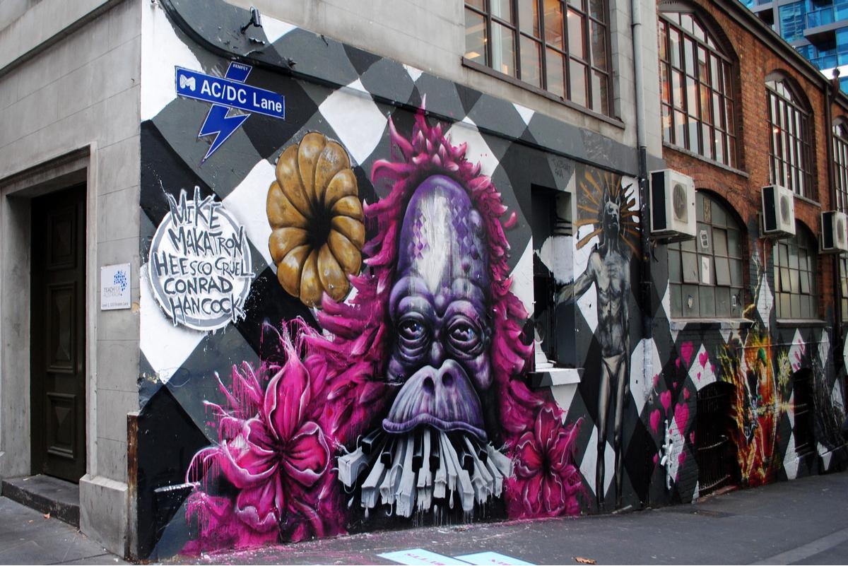 acdc lane melbourne graffiti