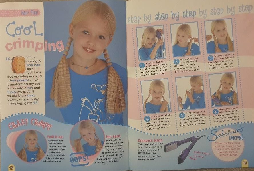 cool crimped hair tutorial from sabrinas secrets magazine