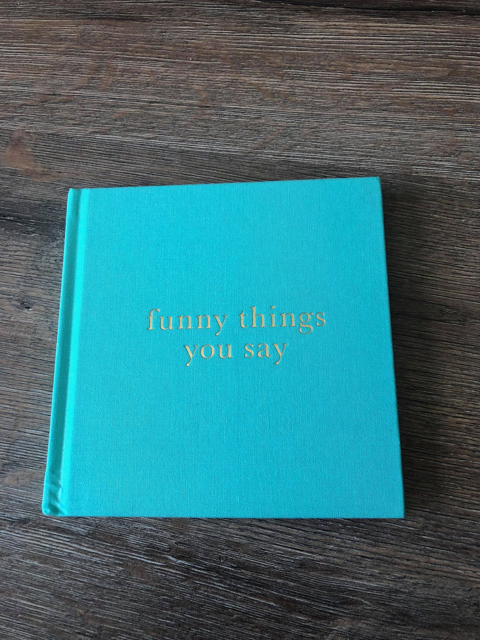 funny things you say baby book david jones-baby shower gifts