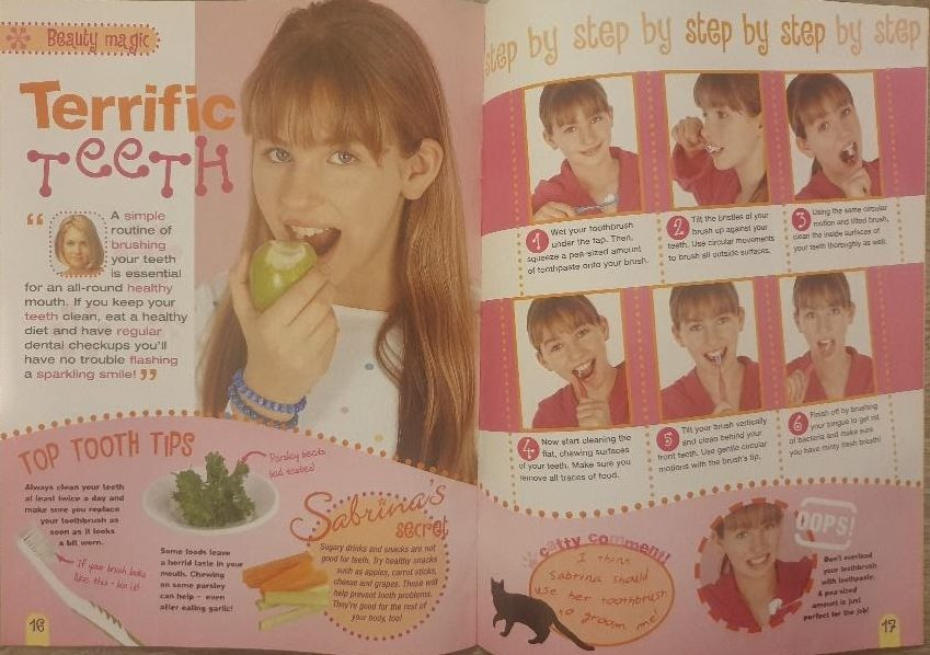 how to brush your teeth beauty tips from sabrinas secrets magazine
