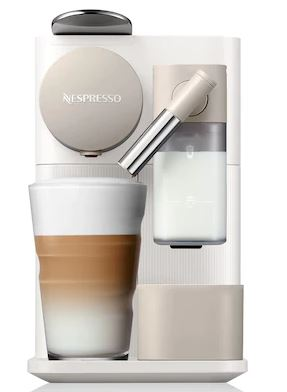 nespresso white coffee machine