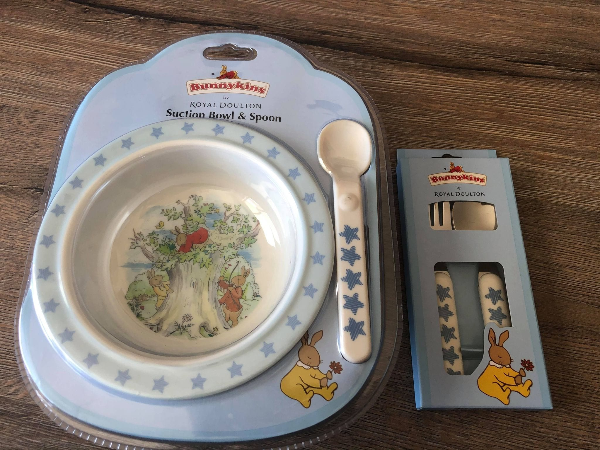 royal doulton baby suction bowl and cuttlery