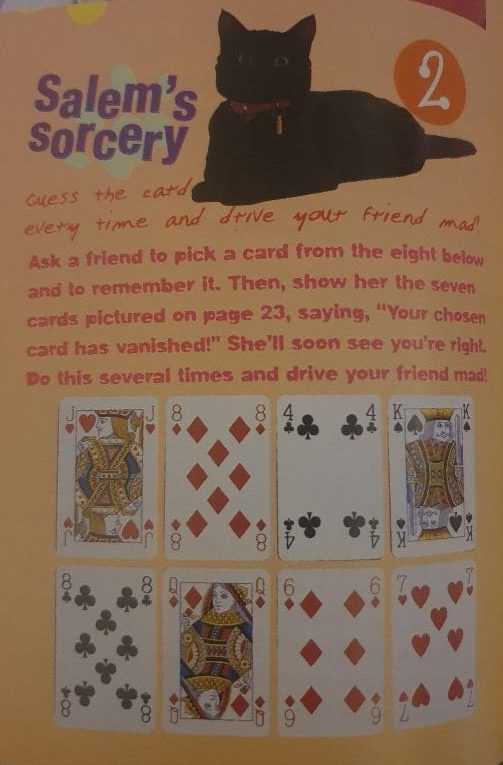 sabrinas secrets magazine salems sorcery magic card trick