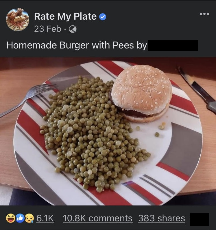 Would you like peas with that