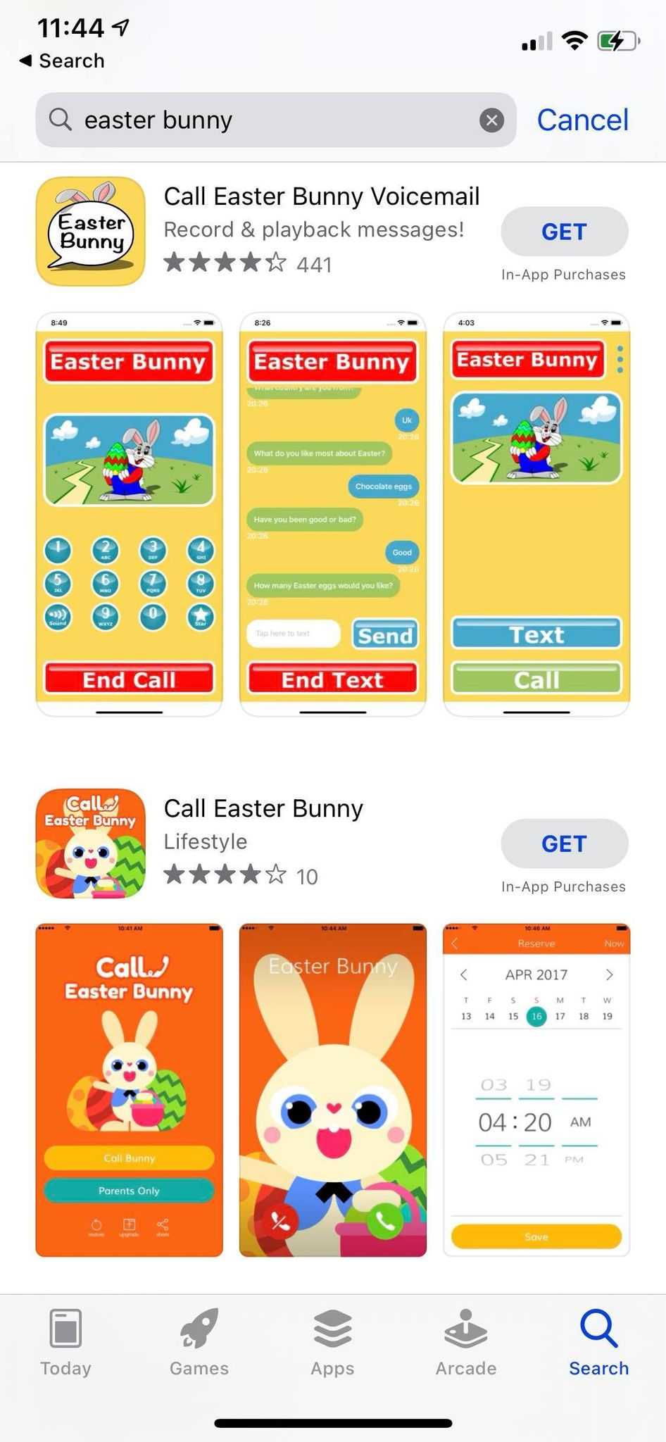 call the easter bunny apps ios