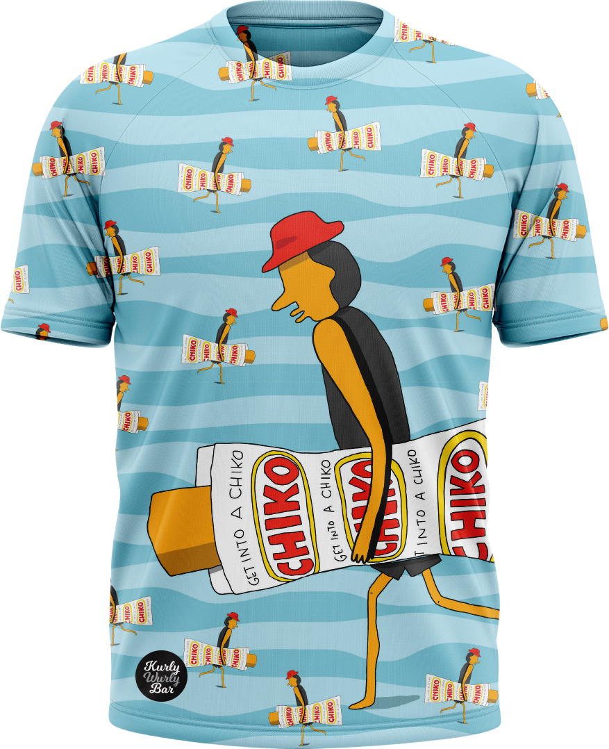 chicko roll surf board shirt