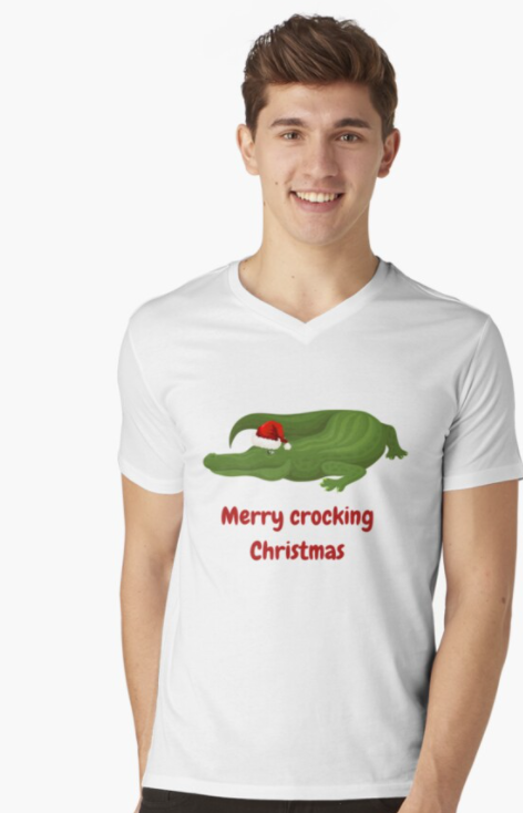 funny australian shirt CHRISTMAS CROCODILE