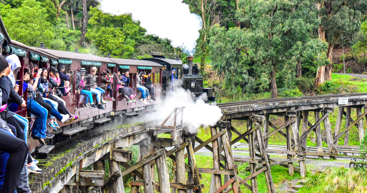 puffing billy train melbourne australia