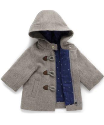 purebaby boys duffle coat