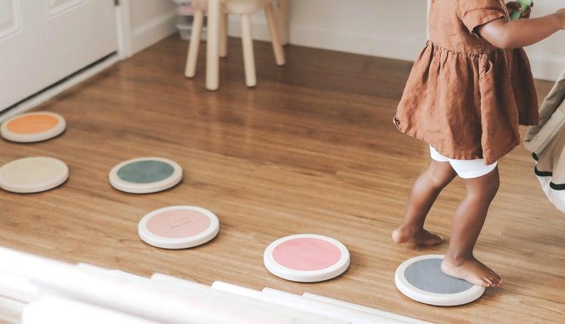 stepping stones wooden montessori